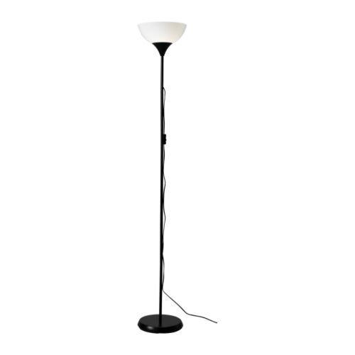 Ikea Not 201.398.74, Lámpara de pie para luz de techo, negro / blanco, 69 pulgadas
