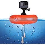 TELESIN Bouée flottante en PVC pour caméra d'action GoPro Hero 5/4/3+/3, SJCAM SJ4000/5000/6000, Xiaomi Yi