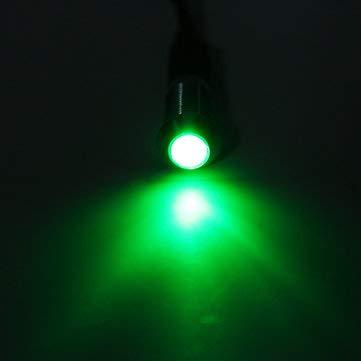 C-FUNN 12V 8Mm LED Voyant Lampe Ampoule Dash Panneau D'Avertissement Bateau De Camion De Voiture - Vert