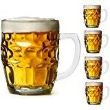 Bier Glas Tassen, Stein Set Set of 4 Dimpled Design (Bier-tassen-set Von 4)