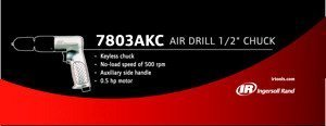 Ingersoll Rand Quiet Technology Air Drill - 1/2in. Keyless Chuck, Model# 7803AKC by Ingersoll Rand -