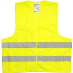Preisvergleich Produktbild 1 x Warnweste größe XL Gelb Sicherheitsweste Pannenweste Unfallweste