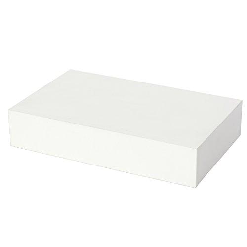 Duraline mensola con cassetto, legno, bianco, 40x 25 x 8 cm