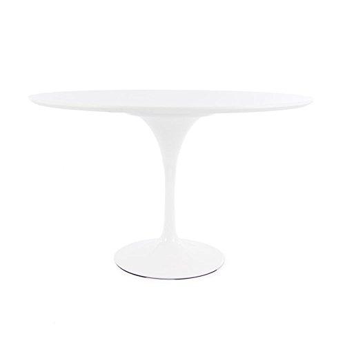 Eero Saarinen Tulipe Blanche Style Grande Table Circulaire