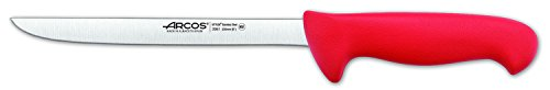 Arcos 8-Inch 200 mm 2900 Range Flexible Slicing Knife, Red Slicing Knife