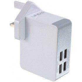 LINDY 73323Schnellladegerät Adaptern USB 4Ports weiß