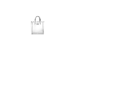 Micheal Kors Est. 1981 Shopper Bag Tasche Farbe: Transparent mit Reptilstyle / Silber Material: Kunststoff Abmessung: 34x32,5x15cm