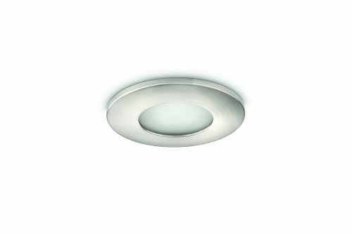 Philips-Wash-Faretto-Bagno-Incasso-tondo-in-acciaio-spazzolato-IP44-diam-105-cm-Cromo