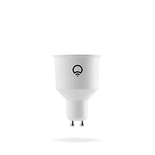 LIFX GU10 Internazionale Lampadina a LED Wi-Fi Smart, Regolabile, Multicolor, Dimmerabile, non Richiede un Hub, Funziona con Alexa, Apple HomeKit e Google Assistant