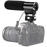 Camcorder-Mikrofon, Shotory Shotgun Interview-Kameramikrofon, Professionelles externes Hypercardioid-Mikrofon an der Kamera für Nikon Canon DSLR-Kamera/DV-Camcorder