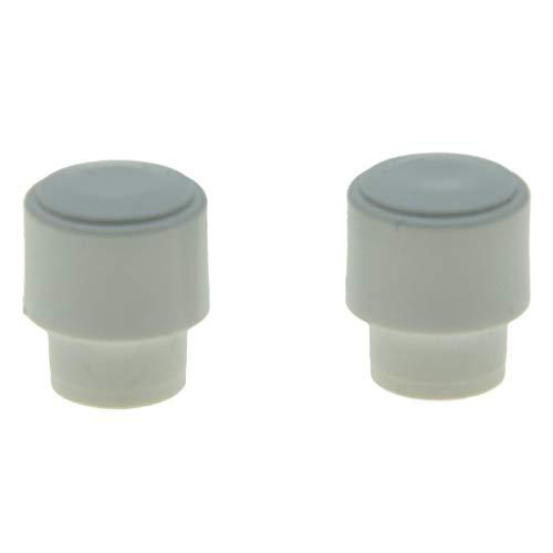 KAISH 2 Stück Barrel Switch Tip 3 Wege oder 4 Wege Pickup Schalter Knöpfe für US Telecaster schwarz/elfenbeinfarben/weiß White Tip -
