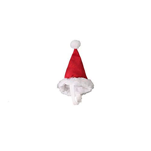 (BeesClover Weihnachtsmütze für Hunde, Rot, rot, S)