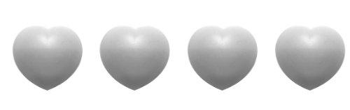 Zak Designs 1313-530 Jacks Coeur Boite de 4 Dessous de Plats Modulables Coeur Blanc