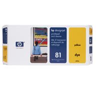 HP DesignJet 5500 42 Inch - Original HP / C4953A / Nr. 81 / Druckkopf Yellow & Druckkopfreiniger - -