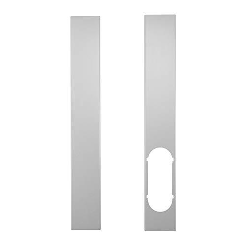 9302sonoaud 2Pcs Accessori per Piatti con Kit di finestre Regolabili da 1,3 m per condizionatore Portatile Bianco