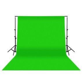 Ex-Pro 3x 2m hochwertige Baumwolle Fotografien Hintergrund mit Stab Pocket–Chromakey Grün Bildschirm