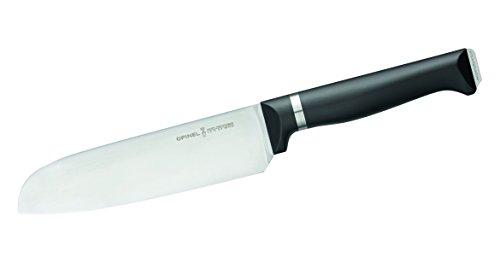 Opinel Küchenmesser, Intempora, Santoku Messer, Kunststoff POM, Schwarz, One Size