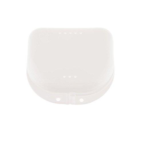 Caja Del Contenedor De Aire Dental Caso Retén Protector Bucal De Almacenamiento De Dentadura Blanca