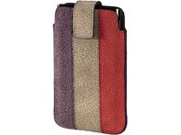 Hama 109345 Handy-Sleeve CHIC CASE Size L Purple/Brown/RED