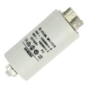 Fixapart 11018 Anlaufkondensator Betriebskondensator 18uF 18µF mit STECKER (Motorkondensator)