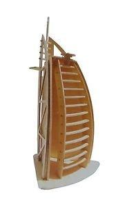 Preisvergleich Produktbild NO:07 Dubai Hotel Holzbausatz 3D Holz Puzzle Holzpuzzle Modellbau Holzmodellbau NEU