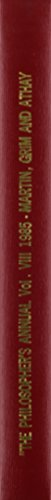 The Philosopher's Annual, 1985: 008