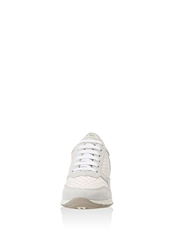 Geox Scarpe Da Donna D7206a D Contatto Sportivo Sneaker Da Donna, Scarpa Stringata, Scarpa Casual, Traspirante Bianco Sporco