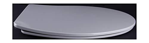 Grünblatt WC Sitz 515301 Toilettendeckel oval Klodeckel mit Quick-Release-Funktion und Geräuschlose Absenkautomatik, Hochwertige Antibakterielle Duroplast, manhattan