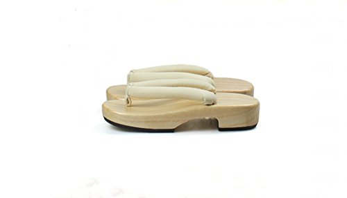 Nuoqi®Tradizionale giapponese zoccoli scarpe sandali Geta Accessori cosplay SEM18I
