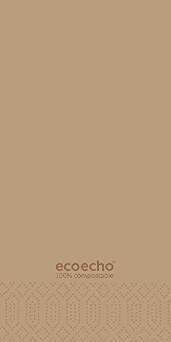 Duni 1786522lagig Tissue Servietten, 40cm x 40cm, vorgefalzt, 1/8Falz, Eco Echo (1500Stück) - Tissue-papier Wirtschaft