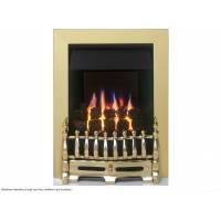 Valor Blenheim Slimline LFE Inset Gas Fire Brass