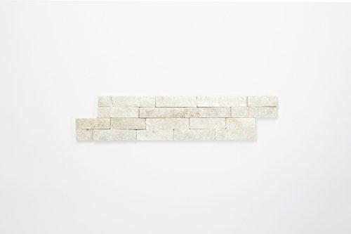Steinverblender Brickstone Quarzit weiss 10x40cm