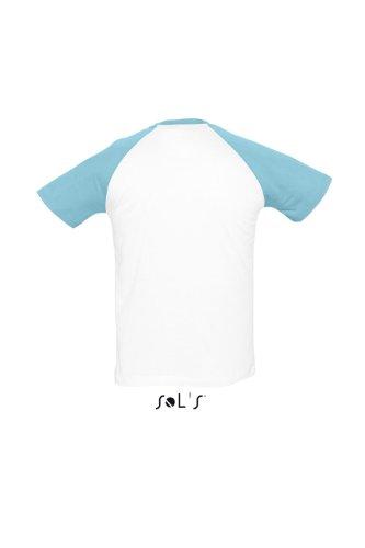 Sols 150 funky t-shirt manches courtes - Blanc/Bleu marine