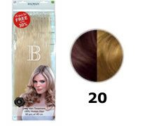 Balmain Fill-In Extensions Value Pack Natural Straight - 20 Medium Pearl Blond (Blonde Pearl Natural)