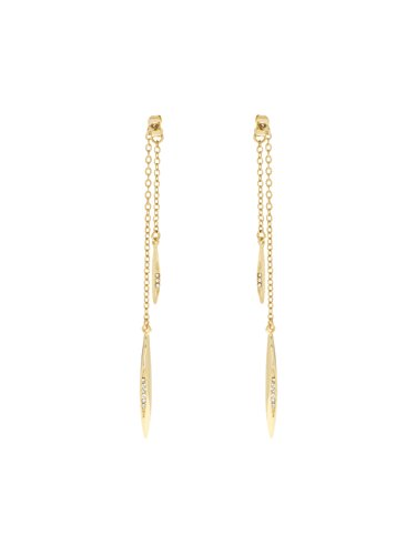 Karen-Millen-Gold-Flow-Drop-Crystal-Earrings