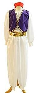 Bühne-Pantomime-Aladdin-Prinz Neu! ARABIAN-GENIE mit rotem Kostüm Hut - Alle Erwachsengrößen - Wie abgebildet, Men: (Kostüme Aladdin Von Pantomime)