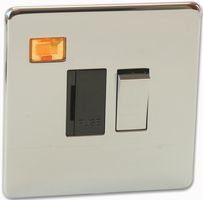 Best Price Square 13A Fuse Spur with Neon, Polished Chrome 7832/3HPC by Crabtree