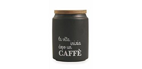 Villa d'Este Home Tivoli Idee Kaffeedose, Steingut, Schwarz