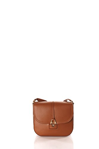 Patrizia Pepe Glam Leather Easy Lock Sac à bandoulière brun