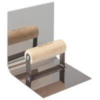 Bon 12-472 Eckenkelle mit Holzgriff, Edelstahl, 15,2x15,2cm