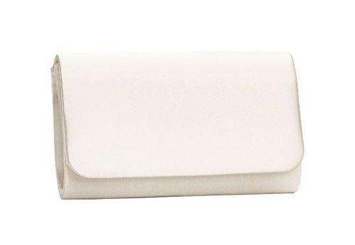 Brauttasche ivory - passend zu Rainbow Schuhen & färbbar (Satin)