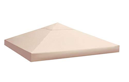Quick-Star Ersatzdach für Blätter Pavillon 3x3m Pavillondach Sand Ersatzbezug