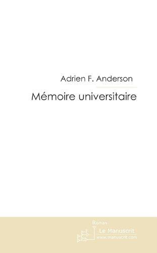 Mémoire universitaire par Adrien F. Anderson