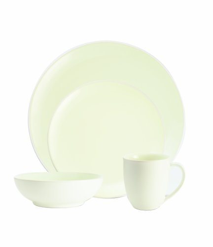 Noritake Colorwave White 4-Piece Coupe Place Setting by Noritake Noritake Coupe