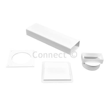 Electruepart Universal Permanent One-Brick Vent Kit Ideal for venting tumble dryers and cooker hoods Fits through the wall replacing one brick ( Ideal for venting tumble dryers and cooker hoods -