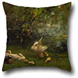 Pillow Cases 16 X 16 Inches / 40 By 40 Cm(each Side) Nice Choice For Bar Seat,bf,lover,boy Friend,lounge,relatives Oil Painting Willem Maris - Duck