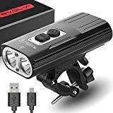 Bijgewerkte versie van de Evolva Future Technology oplaadbare X8 fietsverlichting 1800 Lumen USB Cree LED koplamp Fietsverlichting (bijgewerkte versie)