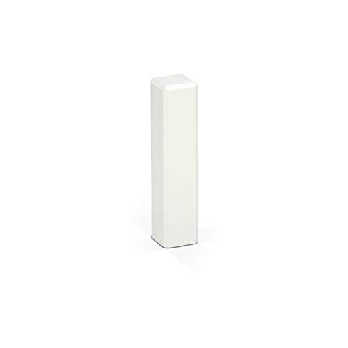 KGM Eckturm 4er Vorteilspack | Höhe 85mm | ✓Massiv ✓Echtholz weiß ✓weiß lackiert | Außenecken Innenecken & Leisten Verbinder | Saubere Übergänge zwischen Ihren Sockelleisten | Ecktürme weiß