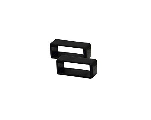 Schwarz Ersatz-uhrenarmbänder (Uhrbanddealer Unisex Uhrenarmband 2 Ersatz-Schlaufen Kunststoff PVC 24mm Schwarz 591824)