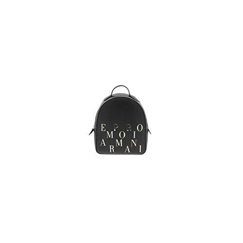 Emporio Armani Damen Backpack Logo Rucksack, schwarz, Einheitsgröße